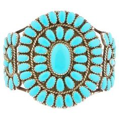 Check out this item at One Kings Lane! Navajo Turquoise Silver Cluster Bracelet