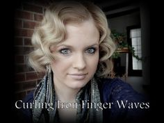 ▶ Finger Waves With A Curling Iron - YouTube fingerwave updo, finger waves with curling iron, makeup, curl iron, beauti, hairstyl, 1920s, finger wave tutorial, fingerwaves tutorial