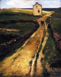 Landscape near Le Pouldu, France Alson Skinner Clark - circa 1900 by BoFransson. Oil.