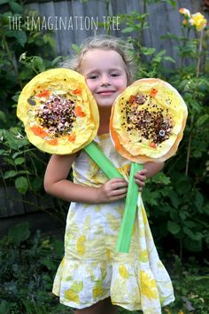 Coffee Filter Sunflowers: Mixed Media Craft (from The Imagination Tree)