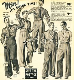 1940 swing clothes mens