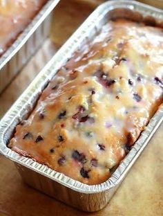 Lemon-Blueberry Yogurt Loaf. Someone should make this for me.