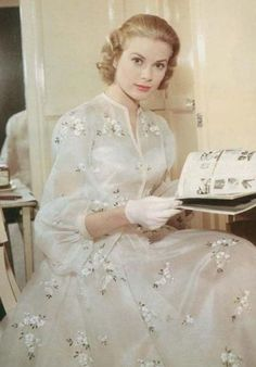 """Grace Kelly in """"High Society"""" 1956. Costumes by Helen Rose."""