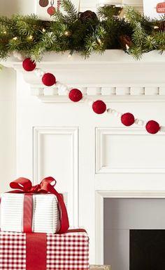 christmas style, fireplac, mantel, christmas decorations, christma decor