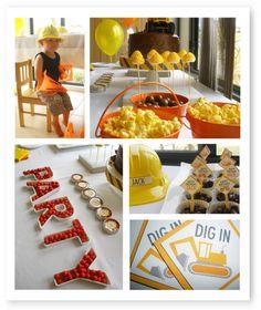 Construction birthday party