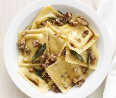Ravioli With Sage-Walnut Butter Recipe