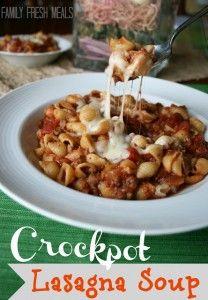Crockpot Lasagna Soup www.247moms.com #247moms