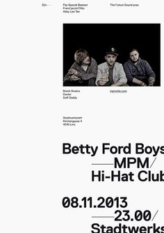 The Future Sound — Betty Ford Boys / Poster — Woifi Ortner