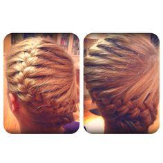 Conch shell French braid  Hair by: Ashley Lawera Salon Forte, Shelby Twp, MI French Braids, Charlott Hair, Hair Braid, Shell French, Braid Style, Conch Shell, Braid Hair, Hair Style, Hair Idea