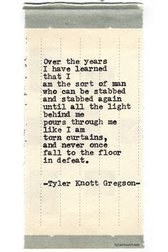 Typewriter Series #711--Tyler Knott Gregson