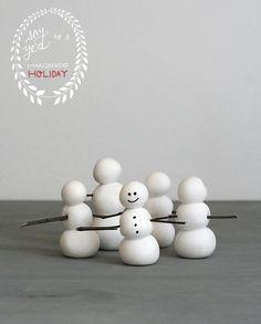 DIY | Muñecos de Nieve para la decoración navideña