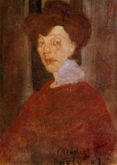 Portrait of a Woman by Amedeo Modigliani #art