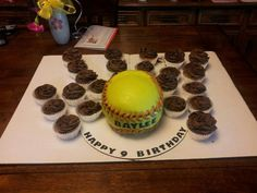 Softball Birthday Cakes on Pinterest