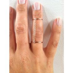 Handcuff Double Chain Ring