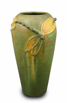 colors, craftsman, art, danc dragonfli, color combinations, ceram, dragonfli vase, bedrooms, dance