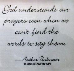 Stampin Up Words of Wisdom God Understand Inspirational Bible Verse Card Scrap | eBay