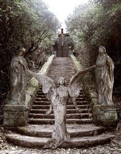 stair, heaven, cemetery angels, angels among us, sculptur, garden, weeping angels, angel statues, guardian angels