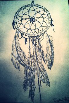 My dream catcher drawing. Possible tattoo idea? On the ribs maybe