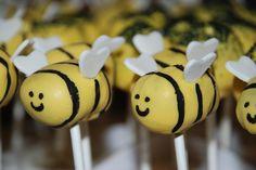 Gender Reveal Cake Pops | ... bee?? {Gender reveal cake} | A Little Something Sweet - Custom Cakes