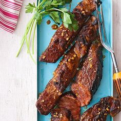These Grilled Short RIbs are super flavorful and fast!