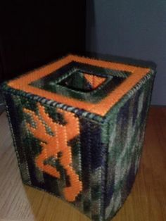 Browning Symbol with Camo Plastic Canvas Boutique Style Tissue Box Cover