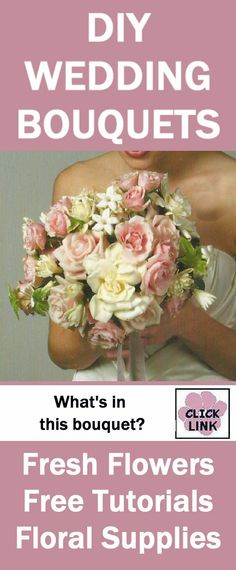 http://www.wedding-flowers-and-reception-ideas.com/make-a-mixed-bridal-bouquet.html  - Gorgeous mix of roses, stephanotis, spray roses and baby's breath.