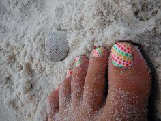 Summer beach nails