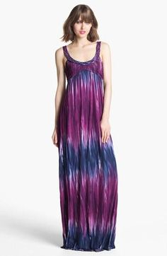 Purple Tie Dye Maxi Dress