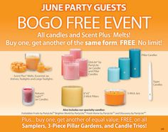 """All PartyLite® Candles are BUY ONE GET ONE FREE for the month of June 2014!   Not having a party? No problem! Just use """"NIKKI HENDRIX"""" as your host to get access to these exclusive deals. www.PartyLite.biz/NikkiHendrix  PLUS!  *50% off item with every $50 purchase *FREE SHIPPING with $100 purchase (I will personally pay your shipping for you when the party closes) *FREE $15 gift certificate and one dozen tealights with $50 purchase (before tax/ship, I will purchase and mail to you)"""