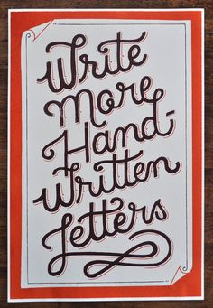 Sometimes a hand-written letter can be enough to lift someone up!