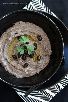 Hummus di fagioli neri - Black bean hummus