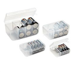 Storage containers for batteries.....much better than my ziploc storage bags