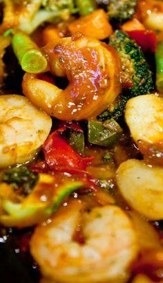 Szechuan Shrimp Stir Fry with Fried Rice