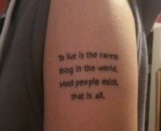 To get this Oscar Wilde tattoo