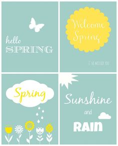 4 Spring Printables - Organize and Decorate Everything