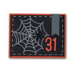 Halloween Vellum Spider Web Card