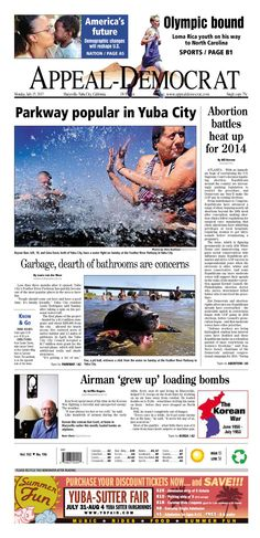Appeal-Democrat front page for Monday, July 15, 2013.