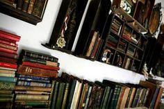 Red Velvet - Judy Wilkenfeld's studio - she works with vintage books