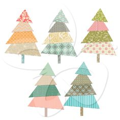 This Christmas clipart includes several images of patchwork Christmas tree clipart.  Also makes very attractive Christmas background clipart.   #clipart