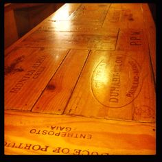 Awesome bar made out of vintage wine box panels vintage wine, vintag wine, wine boxes