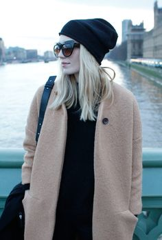 { black basics x camel coat }