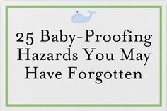 KAM Appliances - 25 Baby-Proofing Hazards You May Have Forgotten from thejoysofboys.com.  #baby #parenting #safety