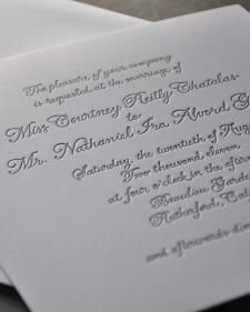 These invitations have a traditional aesthetic that creates a custom canvas for personalization.