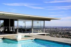 Perched above LA, the Stahl House does mid-century modern right (without Mr. Wright).