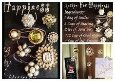 DIY:  Vintage Jewelry Magnets Tutorial - 15 minute craft using vintage jewelry, magnets & glue.