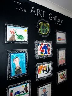 a way to use those massive chalkboards in the children's church room