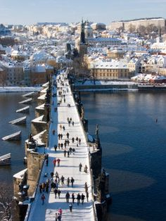 Prague.  The Charles Bridge.  I recommend dinner and a great Czech beer at the old town square, enjoy the clock tower and people watching.  Lisa