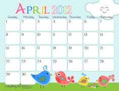 Super cute calendars and other printables