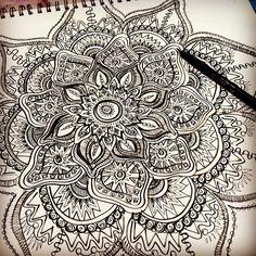 mandala doodle art