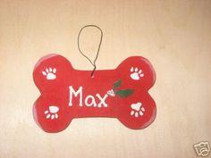 Dog Bone Christmas Ornament  Personalized by cathyscraftden, $4.50